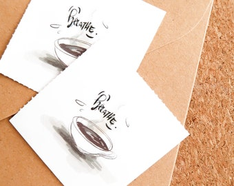 BREATHE MEDITATION KAFFEE Vinyl Sticker 2 era set (round) - Bullet Journal, gifts, art, decoration notebook