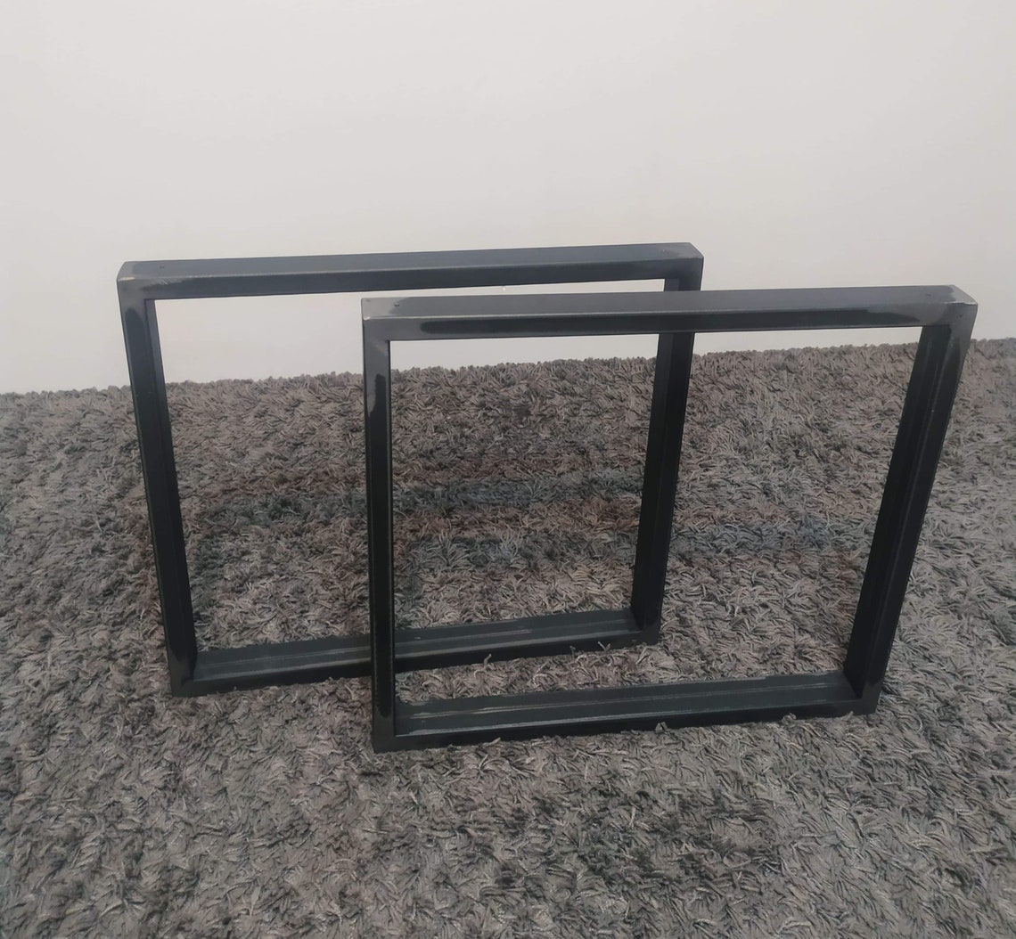 Steel table legs coffee table LIVE EDGE Modern steel legs Industrial table legs (set 2) coffee table legs fast order