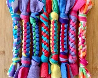Braided Fleece Dog Tug Toys