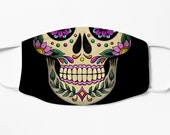 Mexican Skull Face Mask Reusable Printed Catrina Face Mask Day of The Dead Face Mask