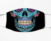 Mexican Skull Face Mask Reusable Printed Catrina Face Mask Day of The Dead Face Mask Sugar Skull Face Mask