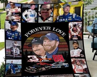 """Forever love 3 Dale Earnhardt and 88 Dale Jr Nation shirt Movie Blanket """"Fleece/Sherpad/Mink/ Quilt Blanket"""""""