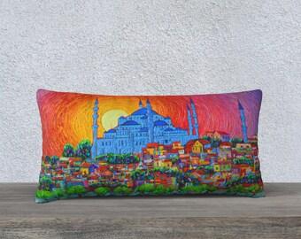 Turkey Map Pillow 18x18 Istanbul Map Pillow