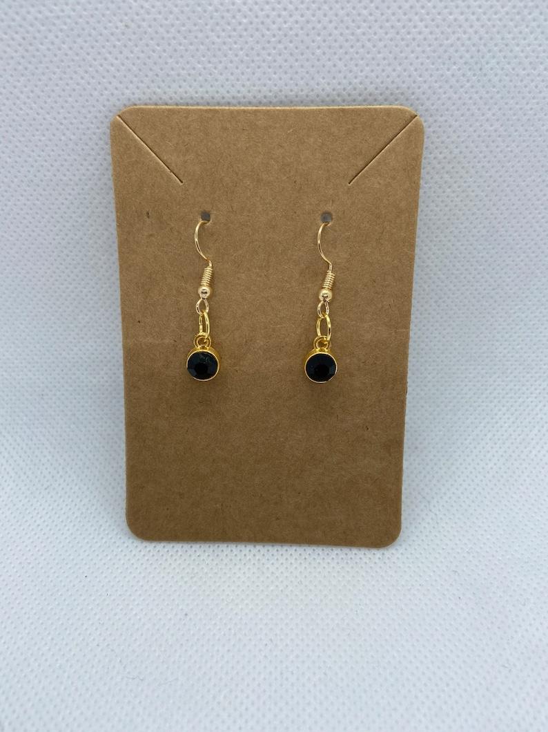 Birthstone Dangly Earrings Jewelry Birthday Gift Stocking Stuffer Accessories Zodiac Signs Custom