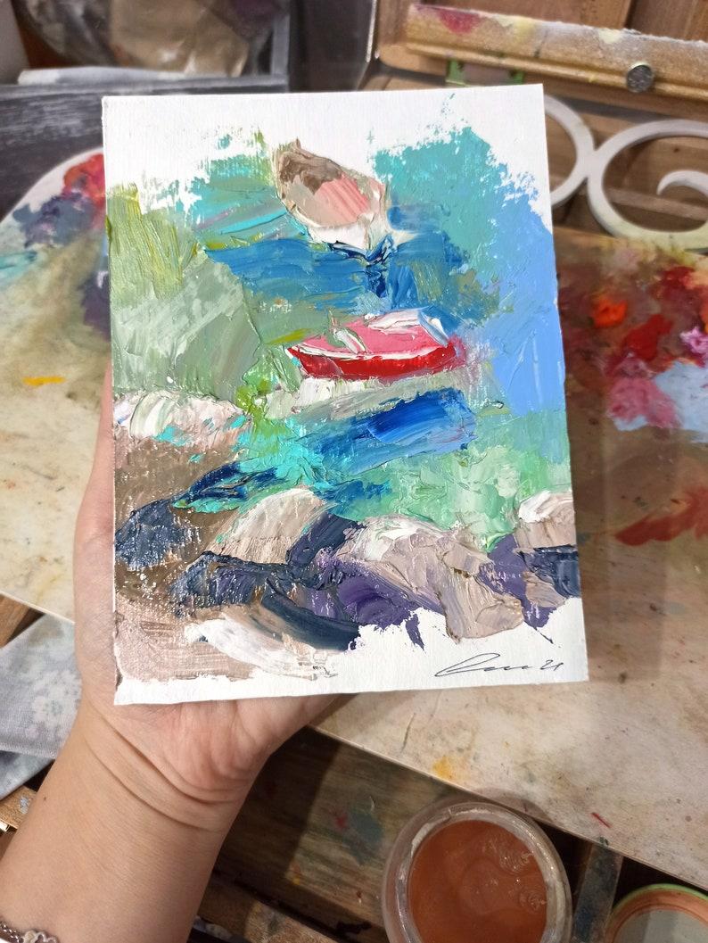 Boat painting Sailboats Painting Original Painting Ocean Art Nautical Painting Boat wall art Sailboats wall art Sailboats artwork