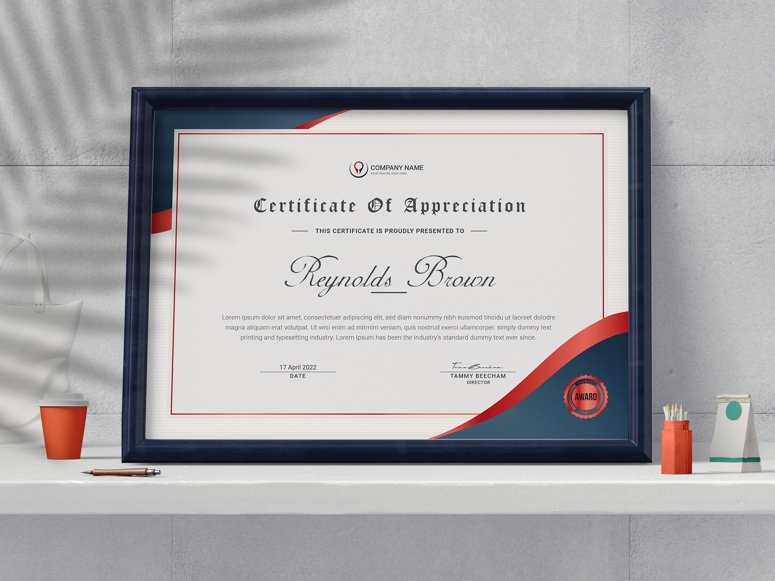 Certificate Template Word, Certificate of Completion, Appreciation  Certificate, Achievement Certificate, Award Certificate, Word Editable Pertaining To Award Certificate Templates Word 2007