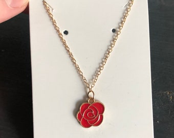 Red Rose Handmade Necklace