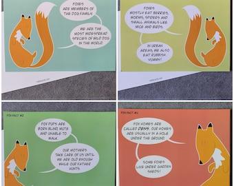 Fox Fact Postcards - Set of 4