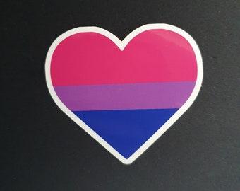 Bi Heart Sticker