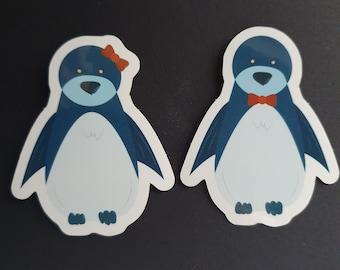 Blue Penguin Sticker