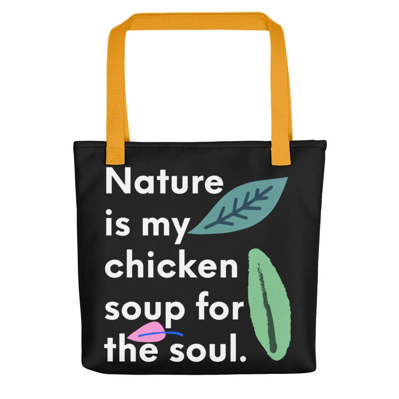 Nature & stress relief shop and student cute tote bag Cute Yellow