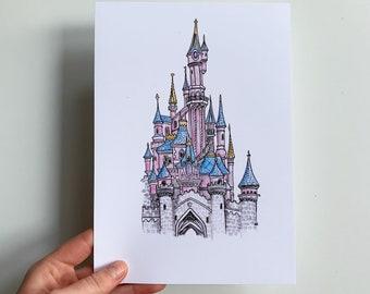 Disney Princess Castle Print