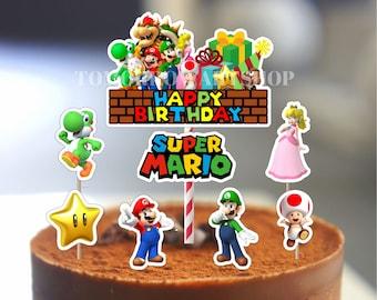 Super Mario Cake Topper Etsy
