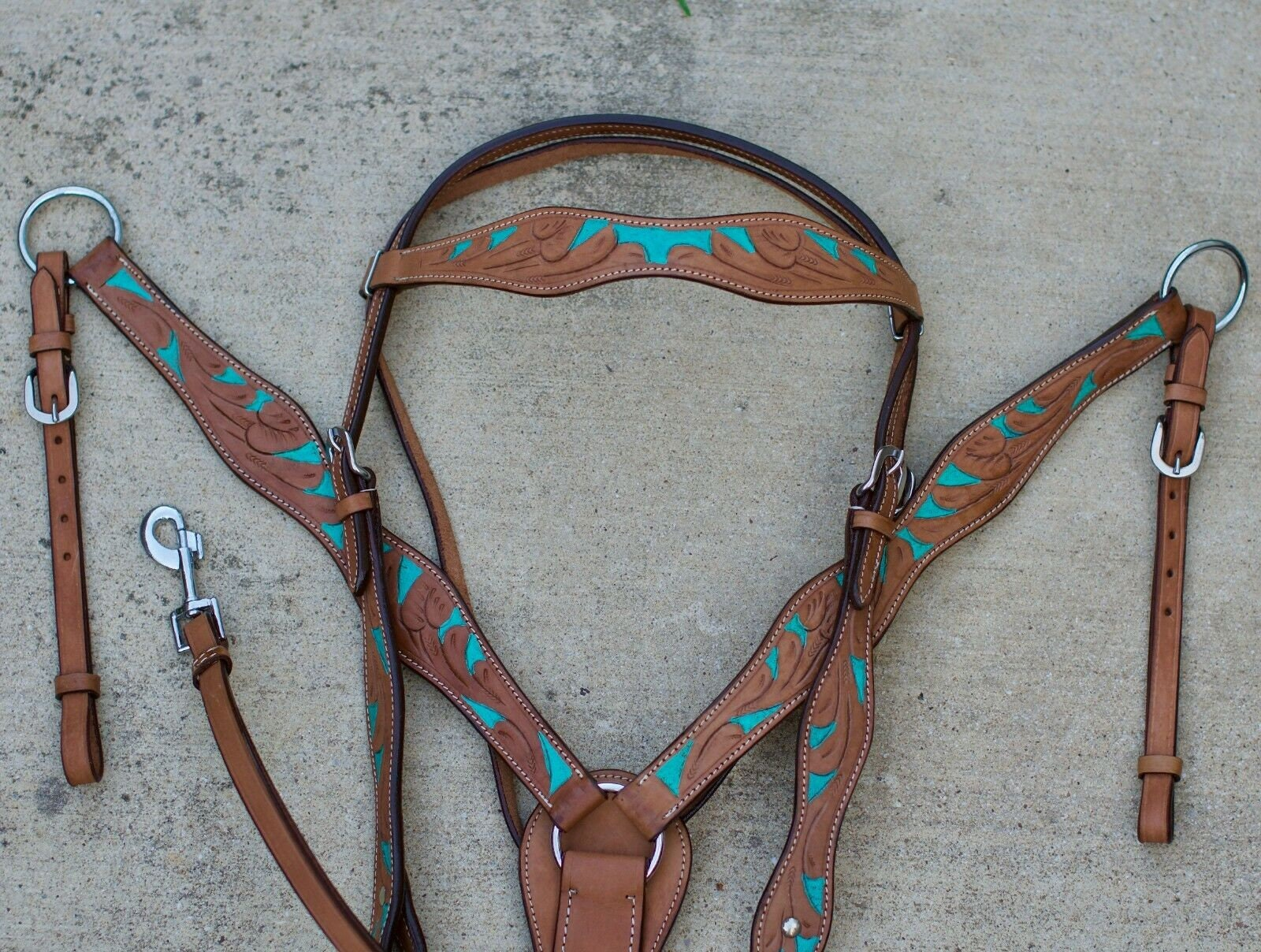 Headstall and Breast Collar Set - Leather