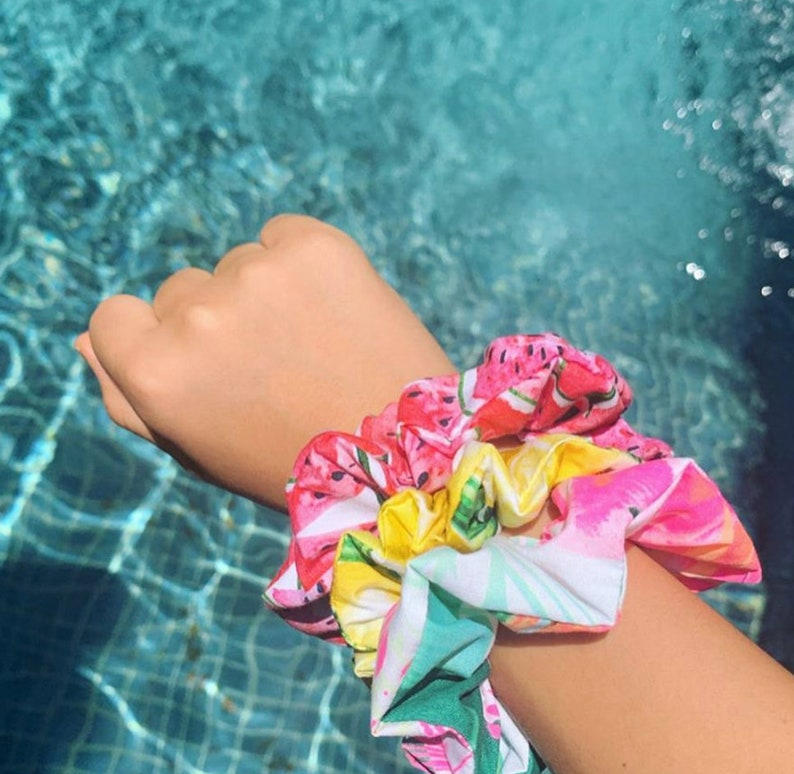 Tropical Butterfly Scrunchie