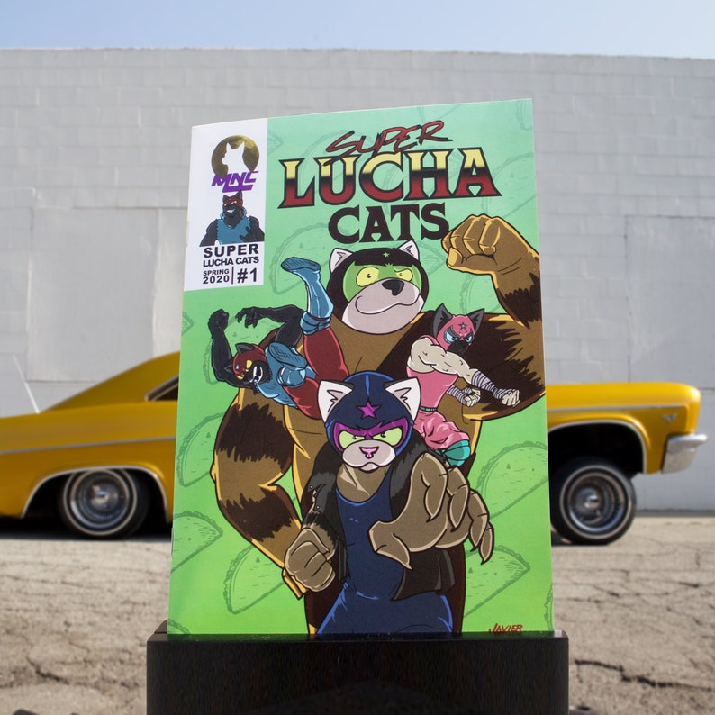 Super Lucha Cats-Issue 1 image 0