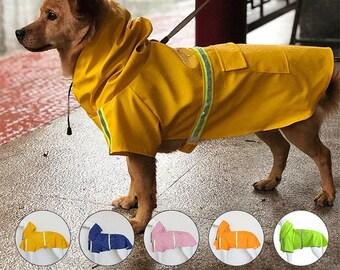 WATERPROOF Reflective Dog Raincoat   Windbreaker Dog Raincoat, S to 5XL Small to Large Dogs, Waterproof Coat, Rainwear Puppy   5 COLORS