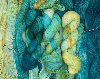 Hand Dyed Yarn - Ocean Fade Set