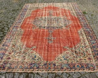 Woven Wool Rug Floor Rug Handmade Rug BY-22 Turkish Rug Oushak Rug 2/'7 x 7/'6 FT  083 x 230 CM