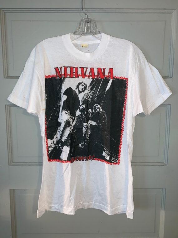 Vintage Nirvana In Utero Concert Band T-Shirt