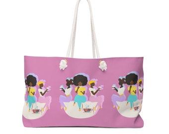 Sis Let's Do Brunch Weekender Pink Bag, Black Girl Brunch, Black Girls Brunch, Weekender Bag, Soar Black Girl, Brunch Bae, Girl Talk Bag