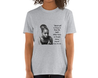 Nina Simone Tshirt. Nina Simone. Vintage Tee. Album. Four Women. Baltimore. Mississippi Goddam. Quotes.