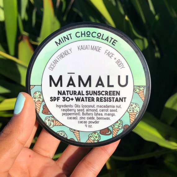 Mint Chocolate Tinted Mineral Sunscreen SPF 30+ Natural & Reef Safe Non-nano Zinc Water Resistant