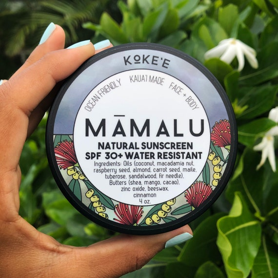Kōkeʻe Mineral Sunscreen SPF 30+ Natural & Reef Safe Non-nano Zinc Water Resistant