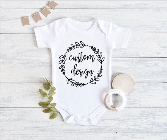 Happy 1st Mother/'s Day Custom Baby Onesie Personalized Name Gerber White Bodysuit Boy Girl Mommy Gift Idea Newborn Infant Clothing