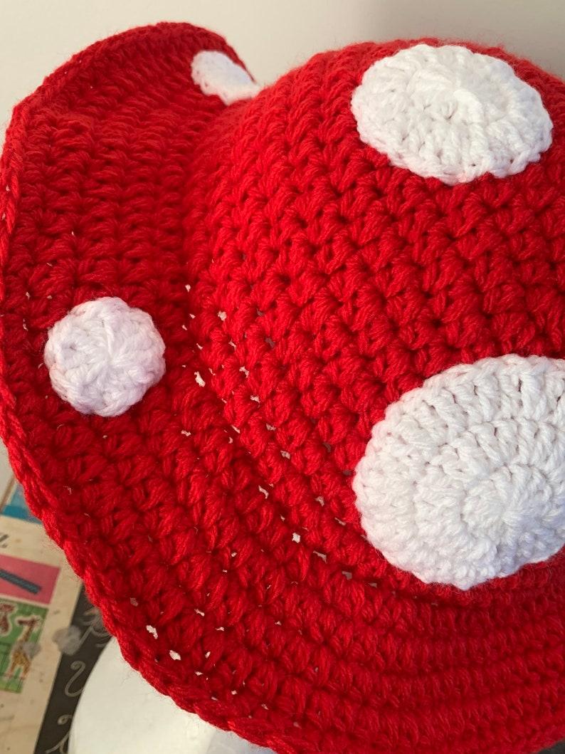 Crochet Mushroom Bucket Hat Etsy