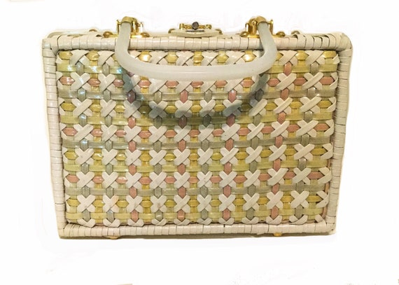 Style Craft Miami vintage wicker purse, with multi