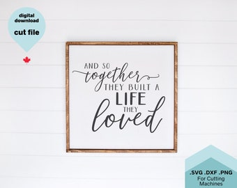 And So Together Svg Etsy