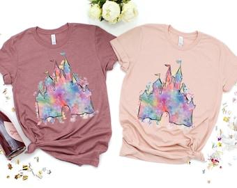 Disney Vacation Watercolor shirt, Magical Castle,Animal Kingdom Shirt, Safari Minnie Mouse Shirt,Shirts for Women, Matching Family Shirts