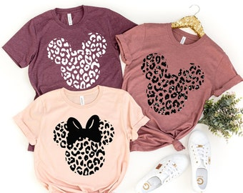 Leopard Minnie Shirt, Animal Kingdom Shirt, Safari Minnie Mouse Shirt,Shirts for Women, Matching Family Shirts