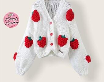 Crochet Rasberry jacket/sweater
