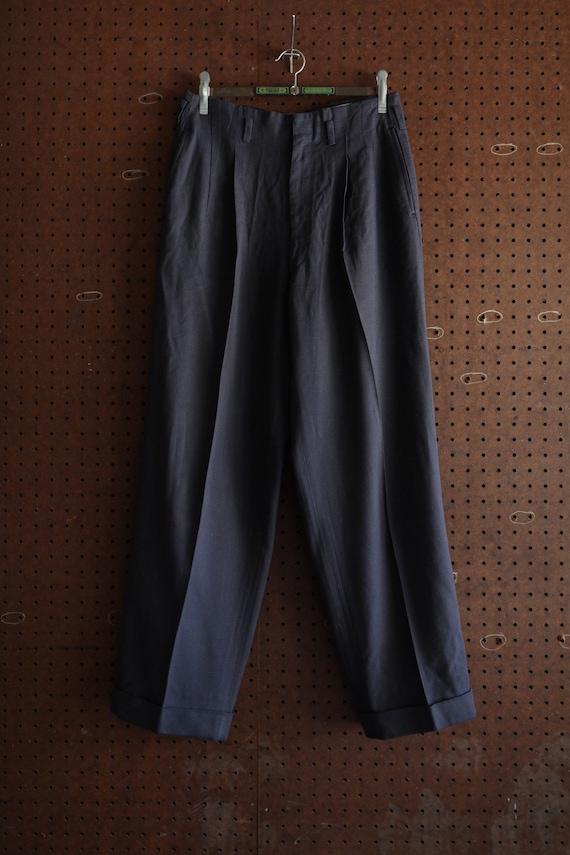 Vintage Deadstock Hollywood Gabardine Navy Pants 2