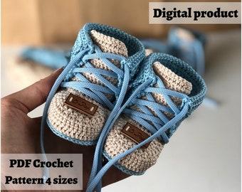 Crochet pattern, Baby Boots Pattern, 4 Sizes Shoe Newborn Booty Pattern  - INSTANT Download Pattern PDF - Uni2