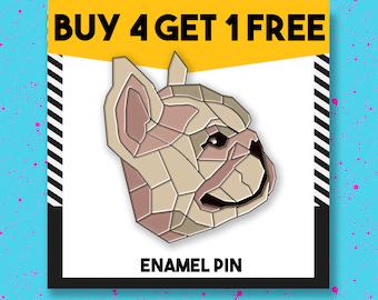Pug Dog Enamel Pin Geometric Animal Enamel Pins Custom Pins Pin Pins Pin Badge Lapel Pin Button Pins