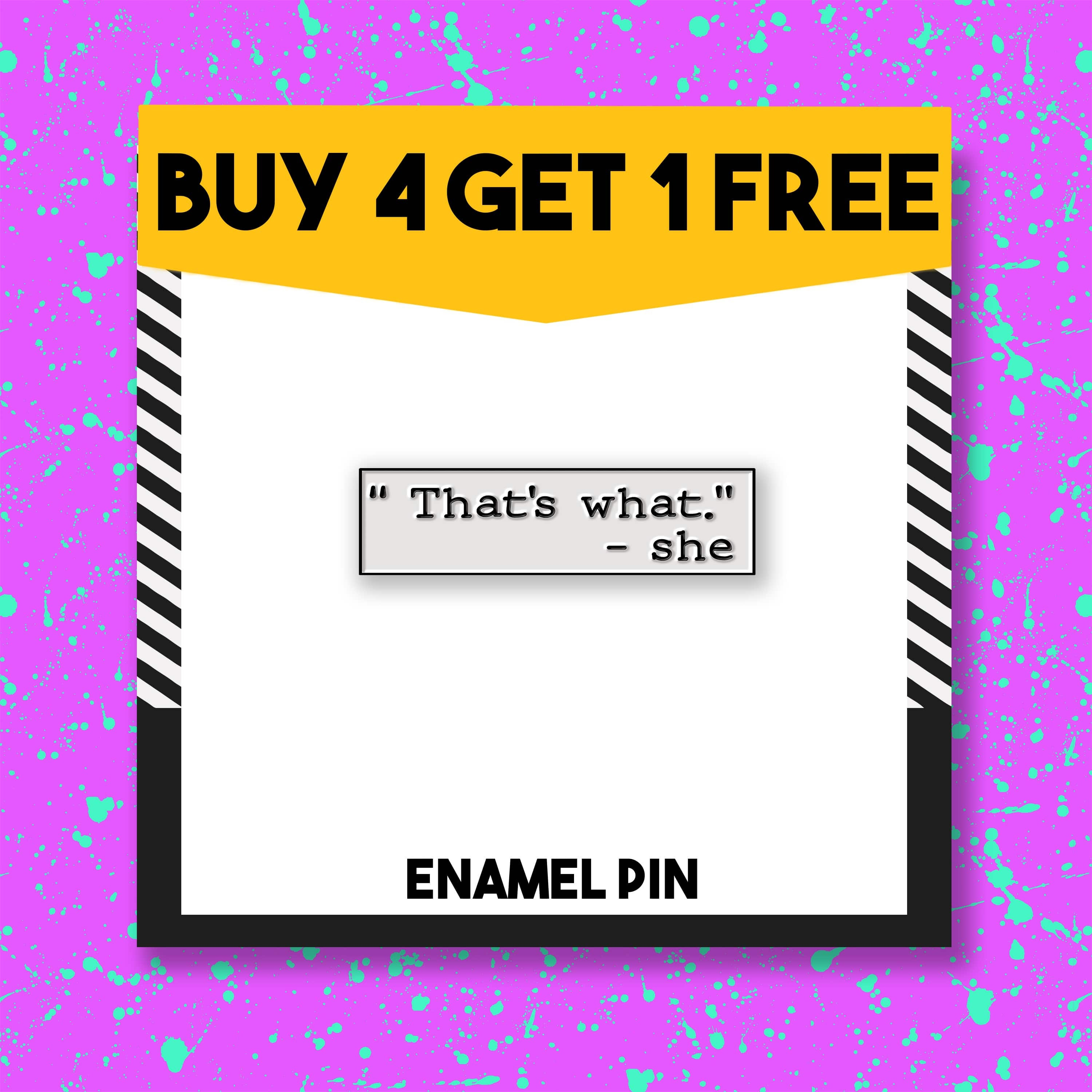 The Office Themed Brooch  That/'s What She Said Pin