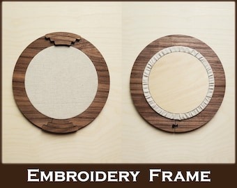 Embroidery Frame 2.0 | Walnut Plywood | Hand Embroidery Frame, Thread Painting, Needlepoint, Crewel, Embroidery Art, Embroidery hoop