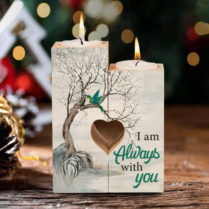 I Am Always With You Candle Holder With Heart valentine gift ideas personalized gifts