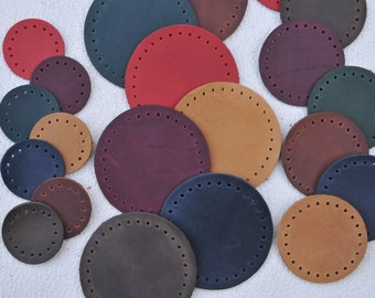 40 mm.50 mm. Circles Die Cut Earrings Accessories. Circles Cut Outs NEW! Leather Circles Double Die Cut Vegetable tanned Leather
