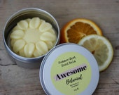 Hand Balm 10-60g e Summer Zest Lemon Orange Solid Lotion Bar Moisturiser Dry Skin Soothing Gifts For Her Awesome Botanical