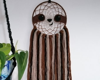 Cute sloth dreamcatcher, wall hanging, sloth, birthday, Christmas gift, jungle forest bedroom decor for boys, girls