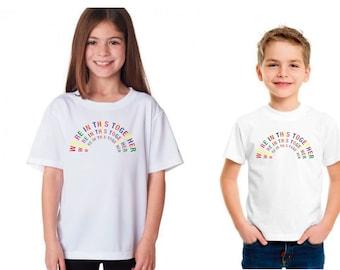 LGBT Rainbow Sweden Flag Heart Baby Boy Newborn Short Sleeve Tee Shirt 6-24 Month Cotton Tops