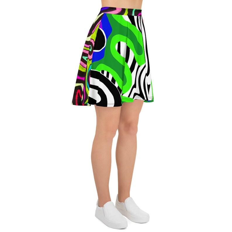 BlackVsColour Skater Skirt