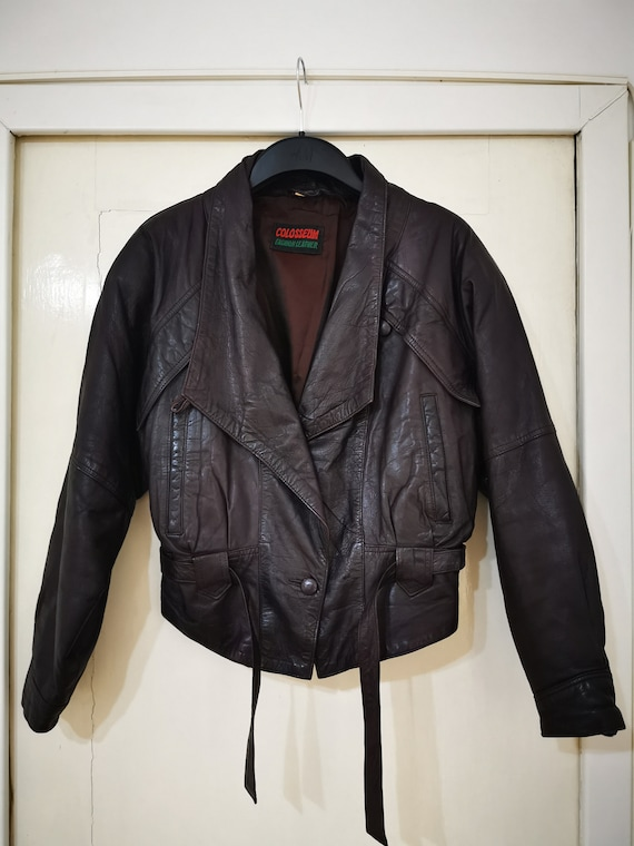 80's leather jacket