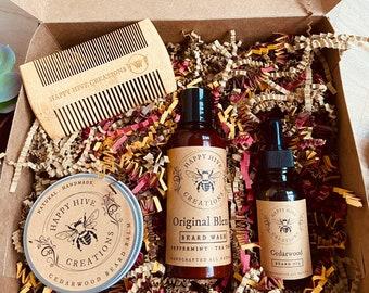 Ultimate Beard Care Kit-Beard Balm, Beard Wash, Beard Oil, Comb- Beard Kit- Conditions & Nourishes- Beard Care- Christmas Gift- Gift Box