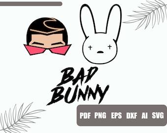 Bunny Face Svg Etsy