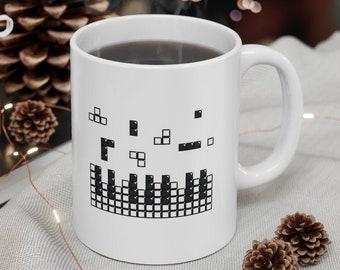 Tetris Brick Piano Mug, Music Mug, Retro Game Gift, Musician Gift, Music Lover